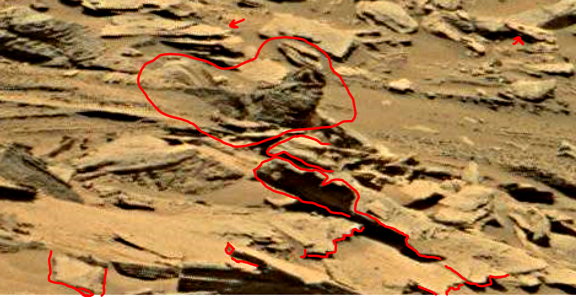 mars sol 1353 anomaly-artifacts 28a1 was life on mars