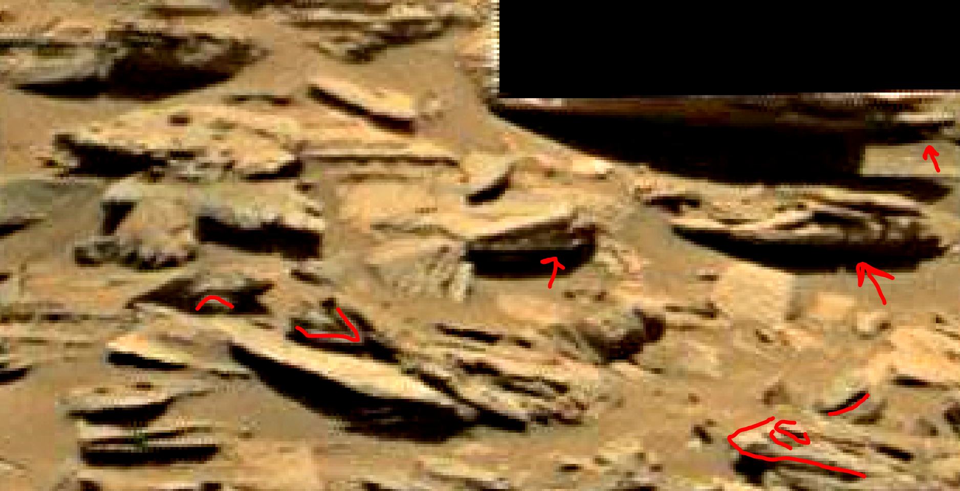 mars sol 1353 anomaly-artifacts 28b1 was life on mars