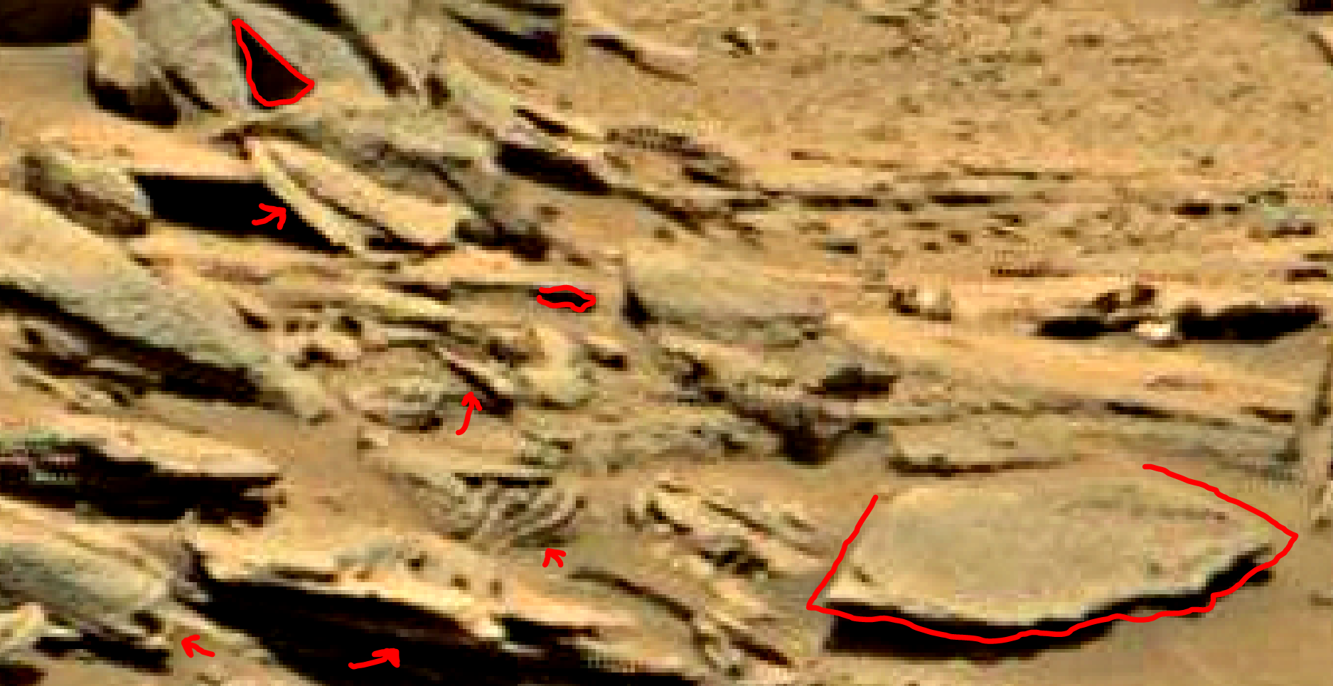mars sol 1353 anomaly-artifacts 28c1 was life on mars