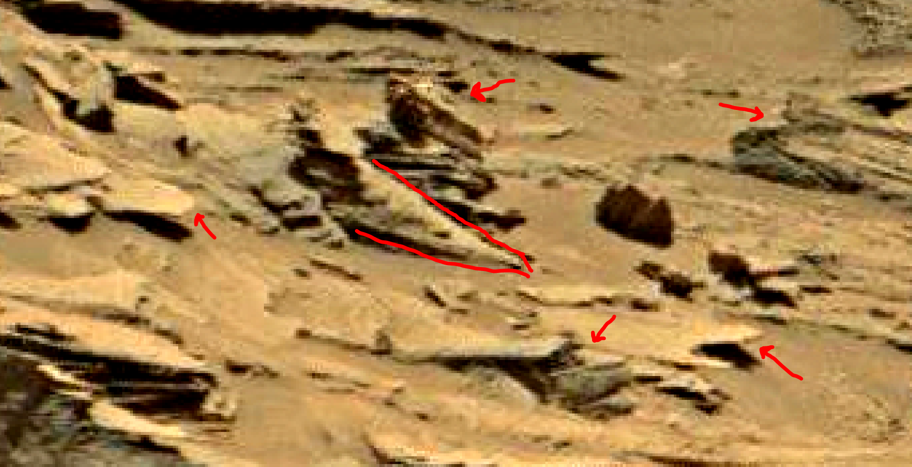 mars sol 1353 anomaly-artifacts 29a was life on mars