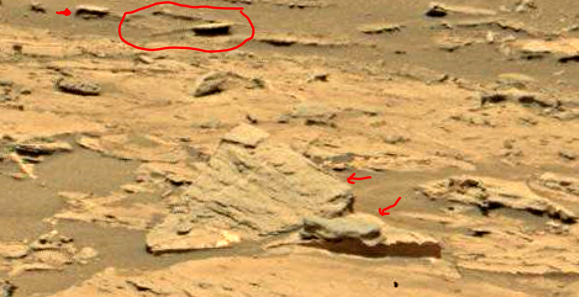 mars sol 1353 anomaly-artifacts 2a was life on mars