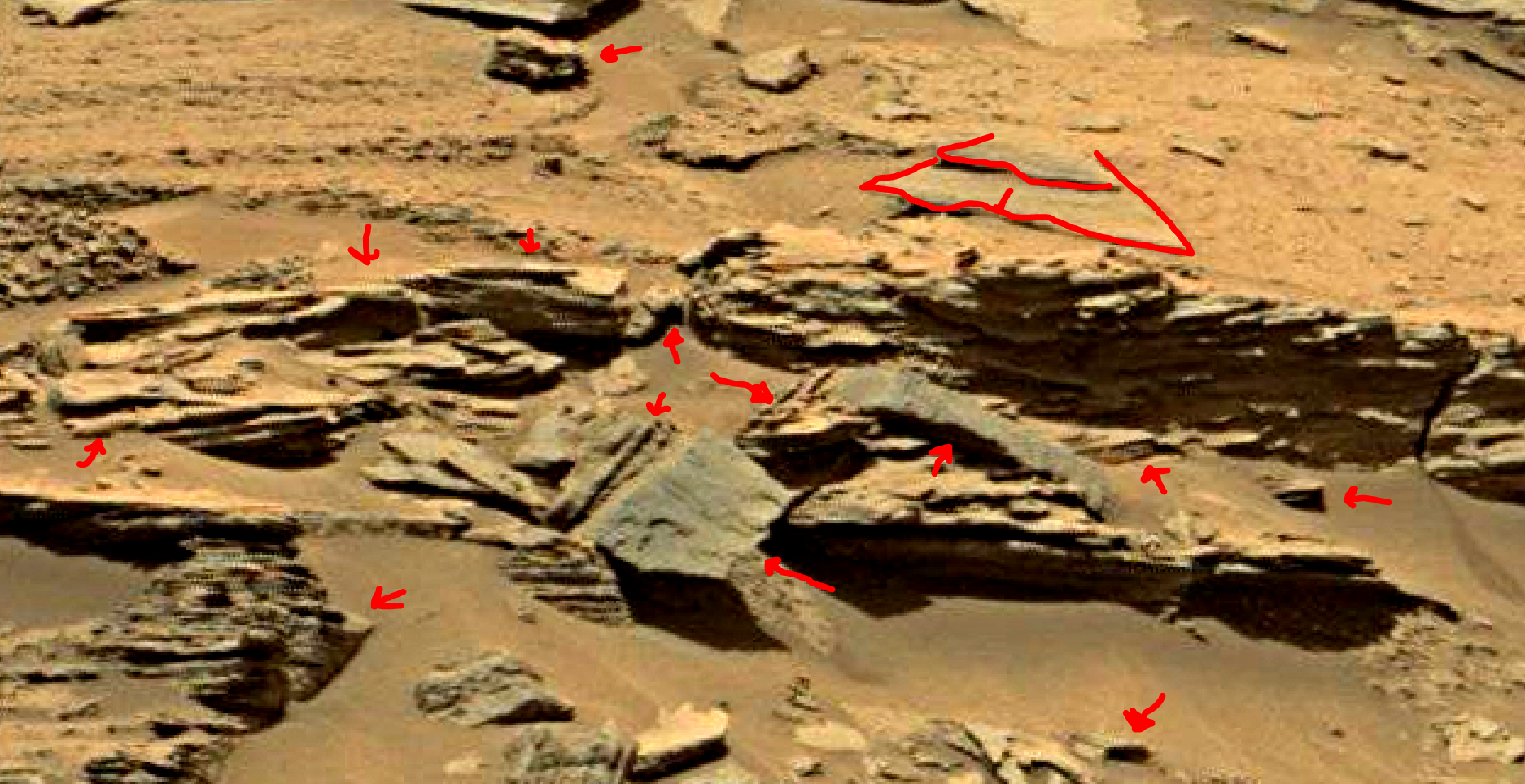 mars sol 1353 anomaly-artifacts 30-1a was life on mars