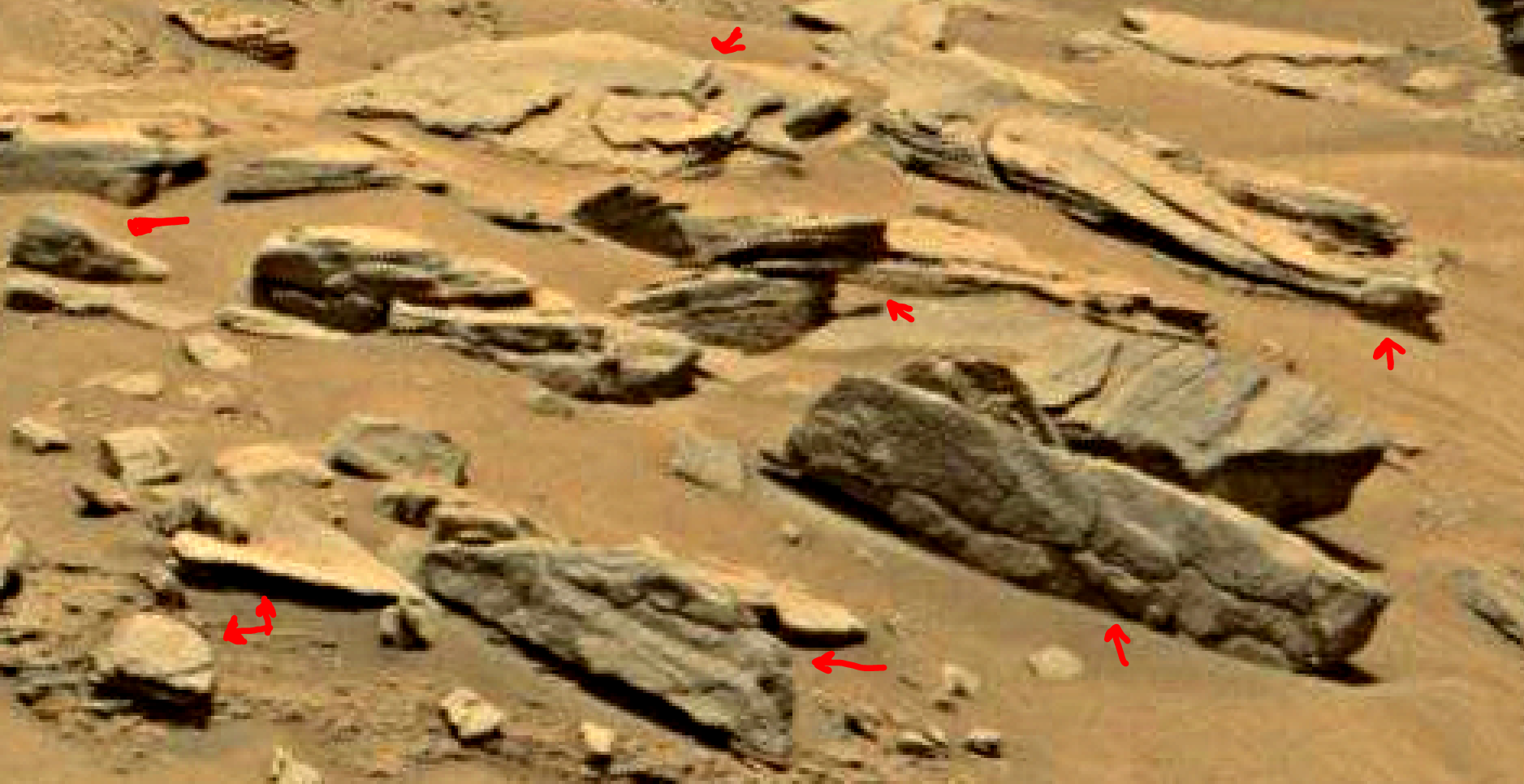 mars sol 1353 anomaly-artifacts 31a was life on mars