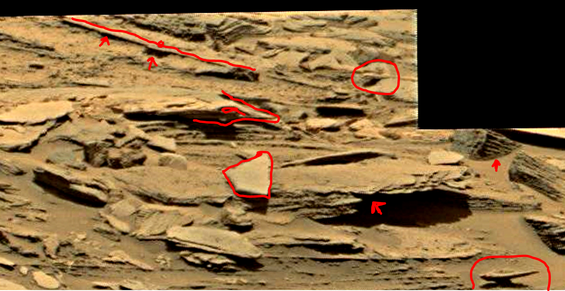 mars sol 1353 anomaly-artifacts 32a was life on mars