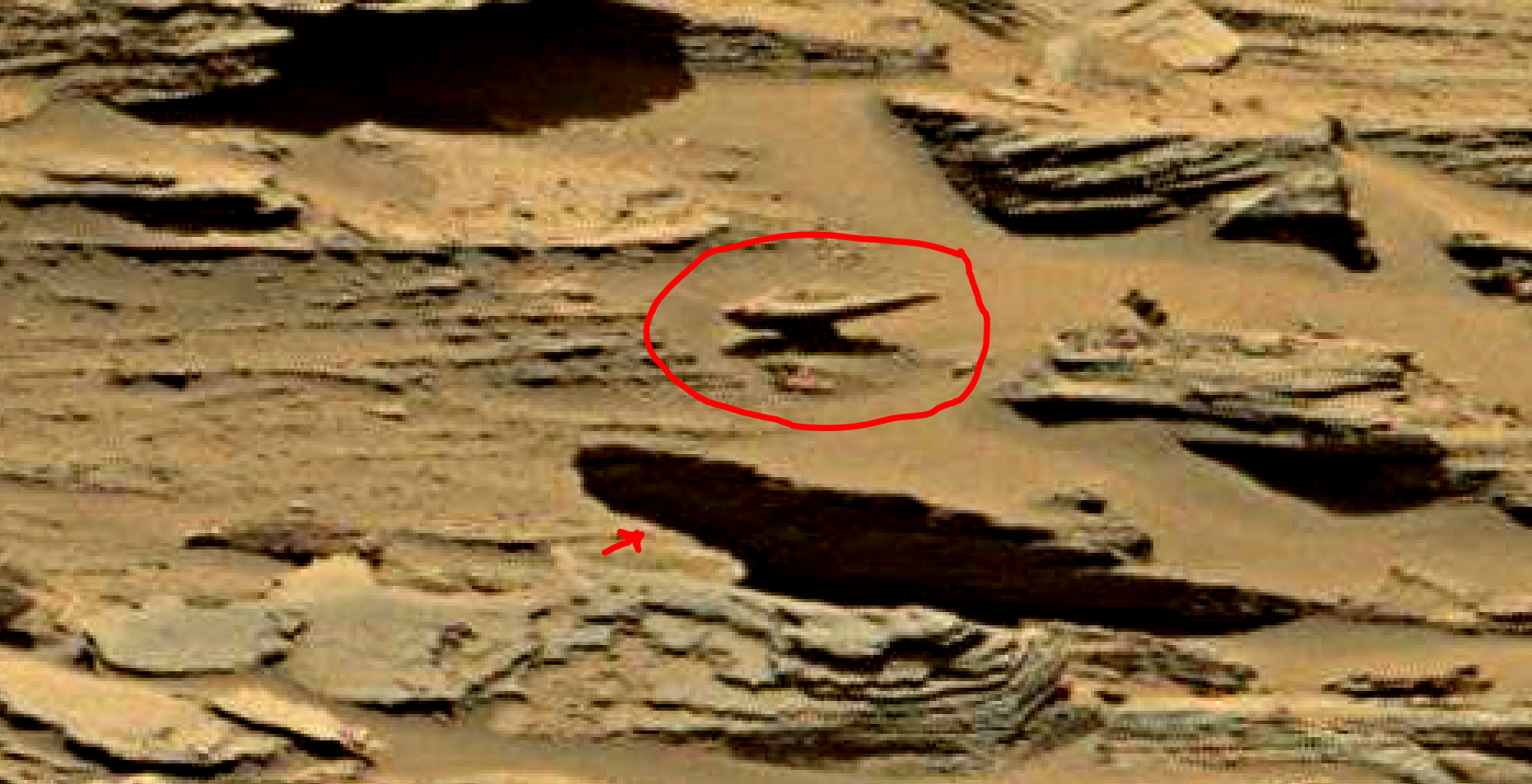 mars sol 1353 anomaly-artifacts 32a1 was life on mars
