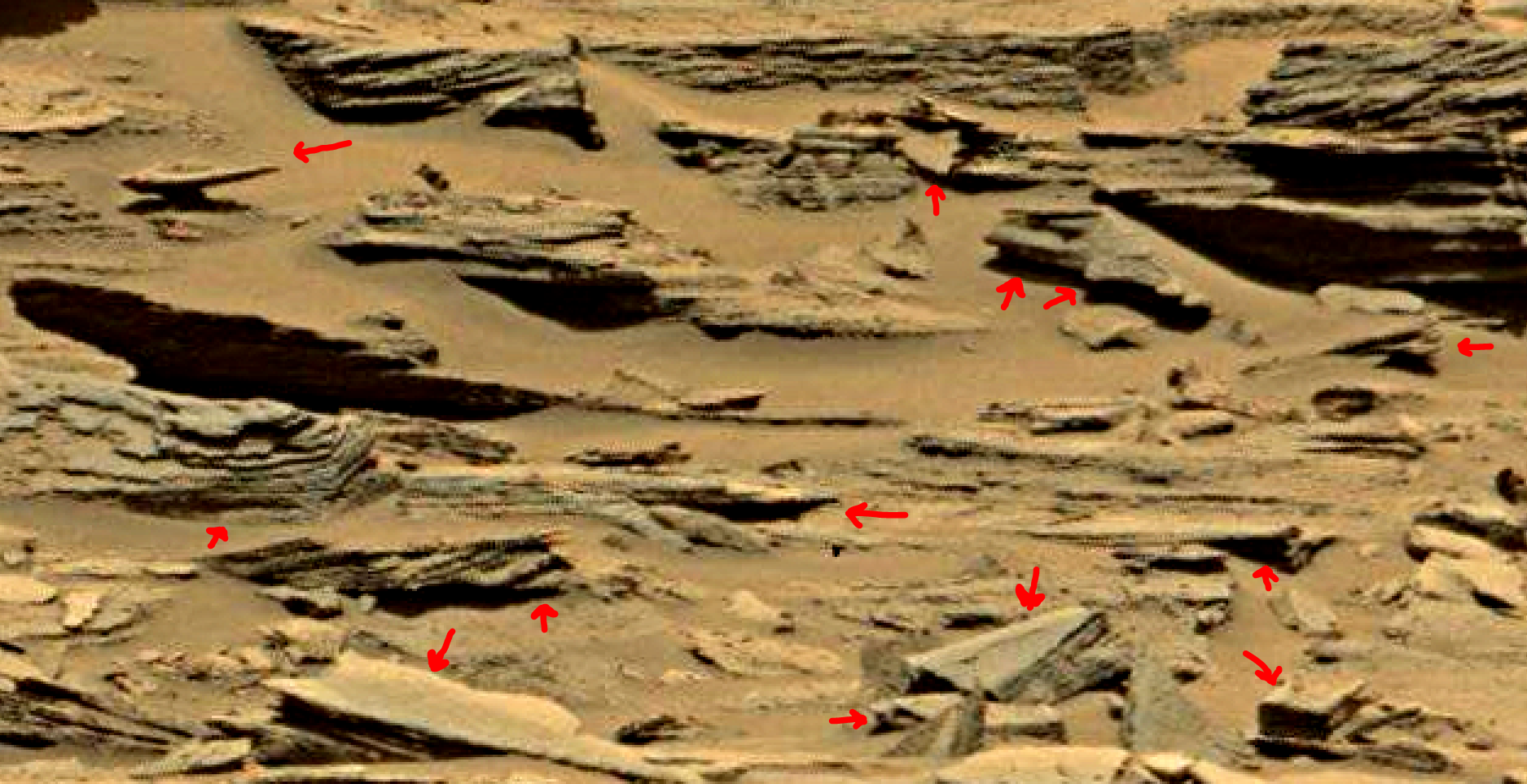 mars sol 1353 anomaly-artifacts 33a was life on mars
