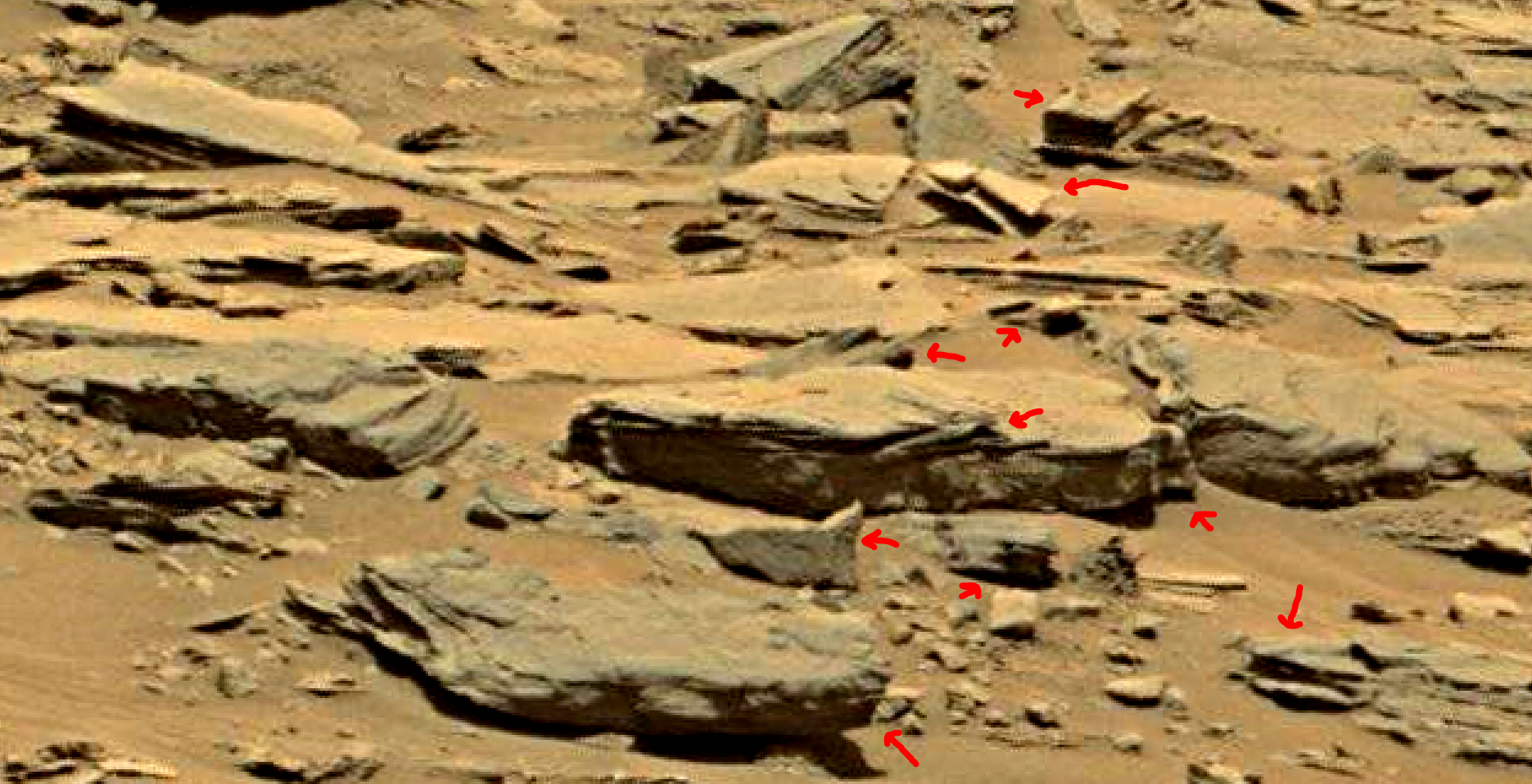 mars sol 1353 anomaly-artifacts 34a was life on mars
