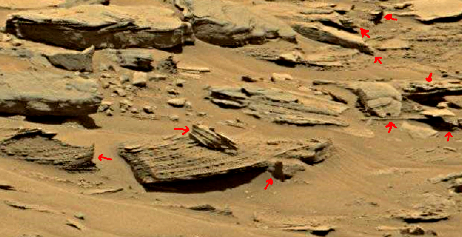 mars sol 1353 anomaly-artifacts 35a was life on mars
