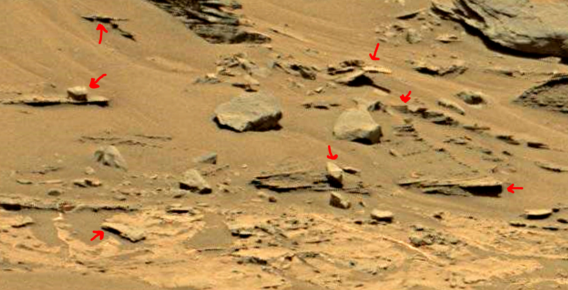 mars sol 1353 anomaly-artifacts 36a was life on mars