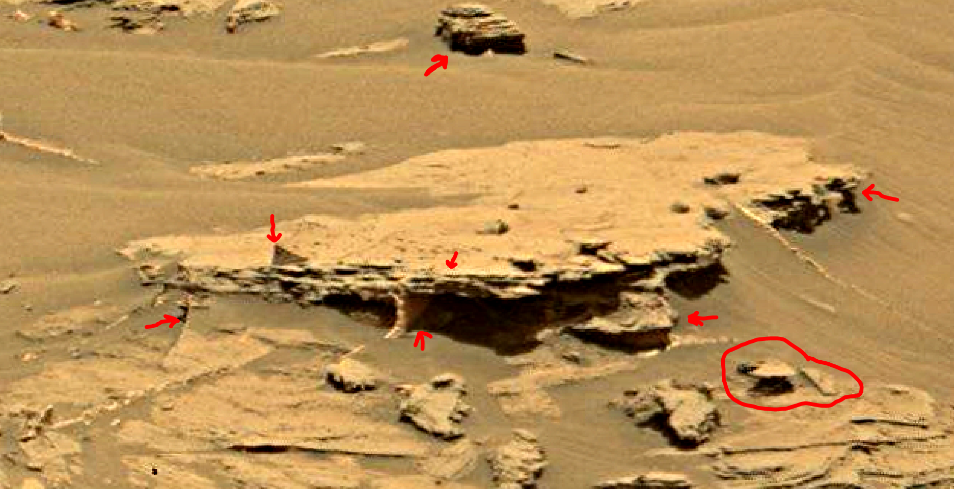 mars sol 1353 anomaly-artifacts 37a was life on mars