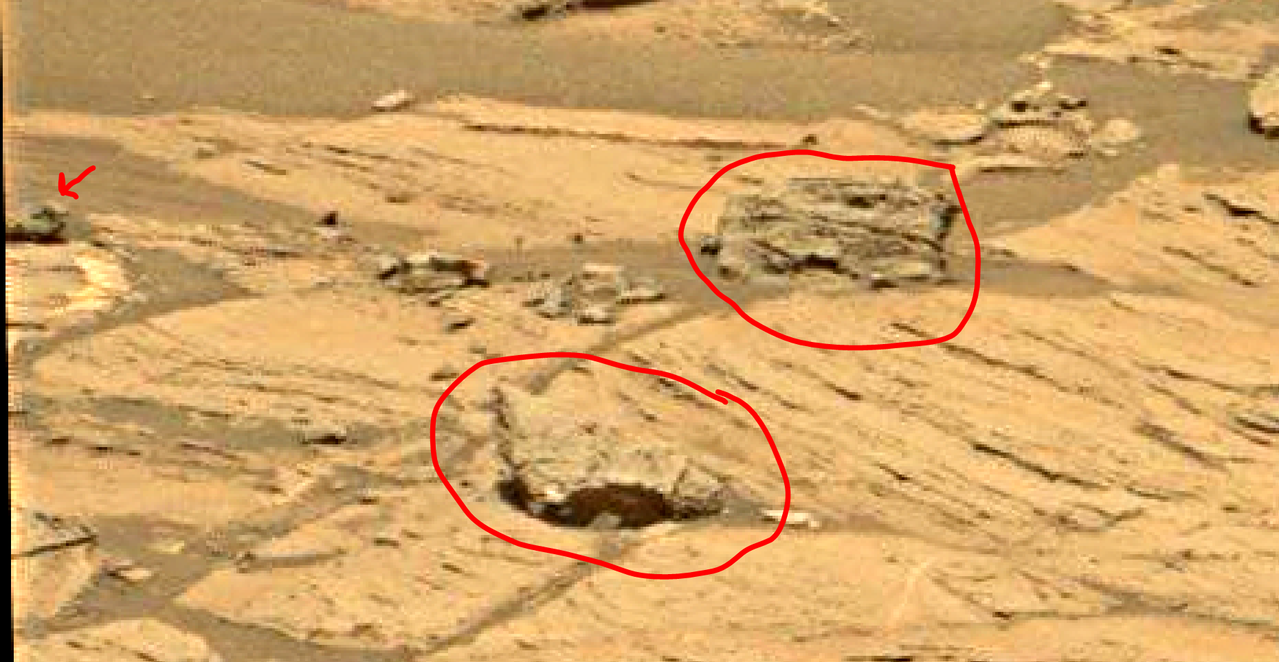 mars sol 1353 anomaly-artifacts 3a was life on mars