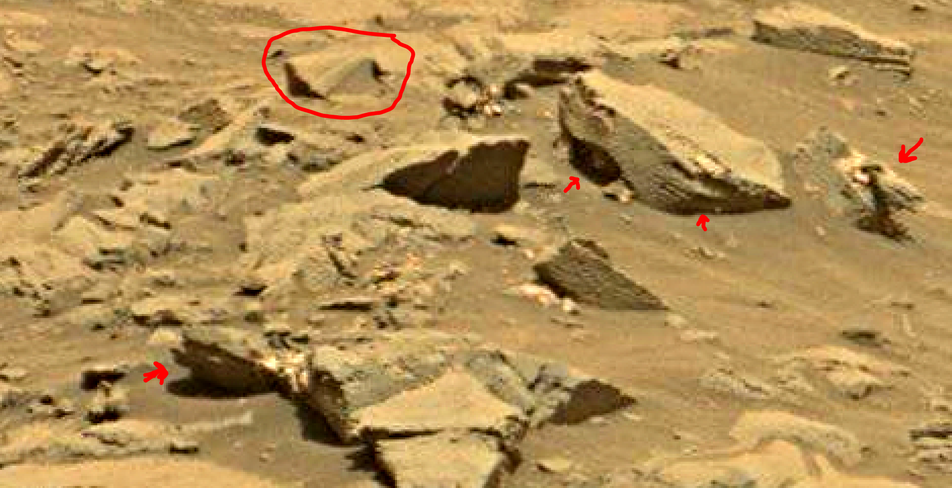 mars sol 1353 anomaly-artifacts 41a was life on mars