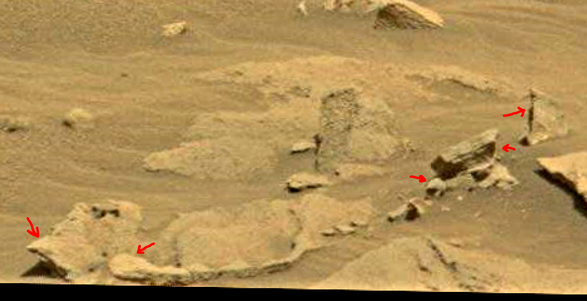 mars sol 1353 anomaly-artifacts 42a was life on mars