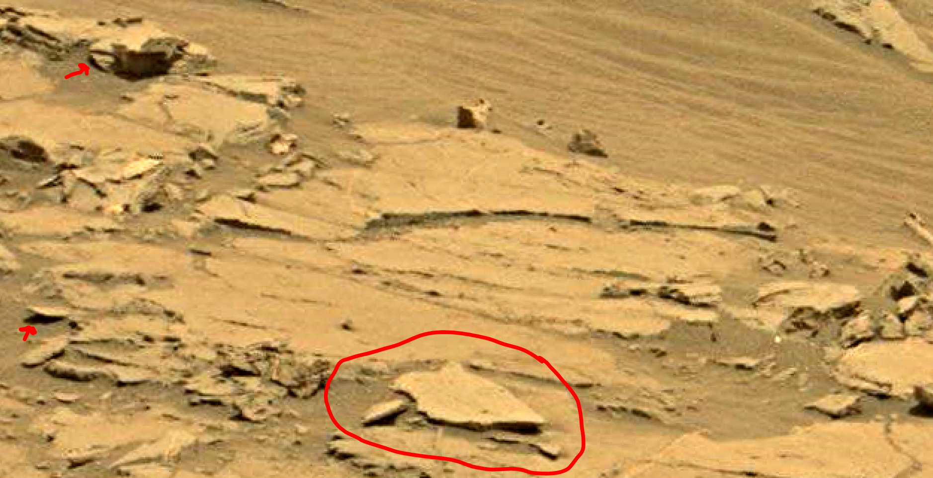 mars sol 1353 anomaly-artifacts 44 was life on mars