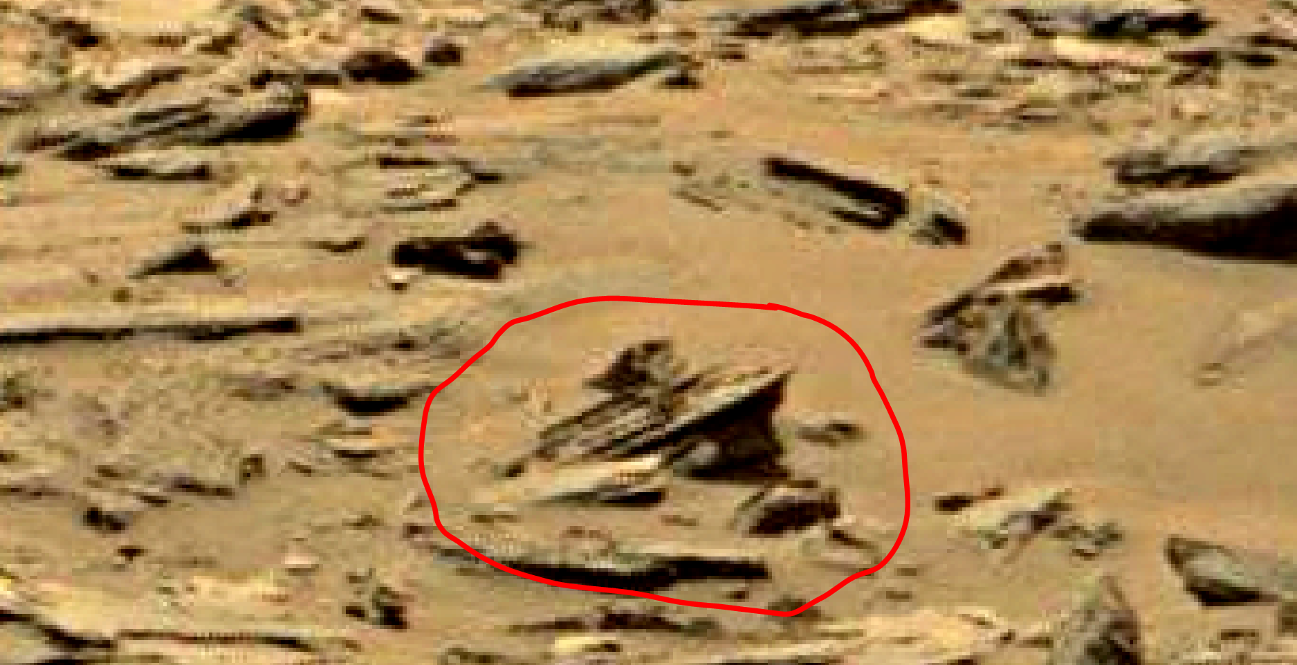mars sol 1353 anomaly-artifacts 4a was life on mars