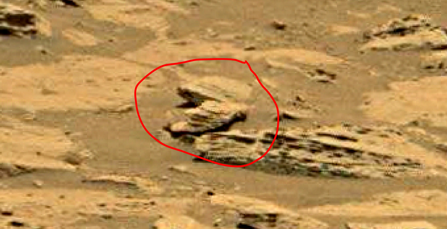 mars sol 1353 anomaly-artifacts 51a was life on mars
