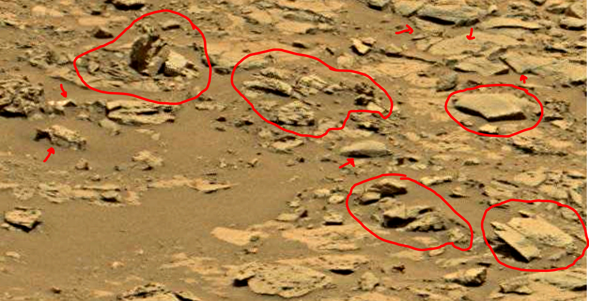mars sol 1353 anomaly-artifacts 52 was life on mars