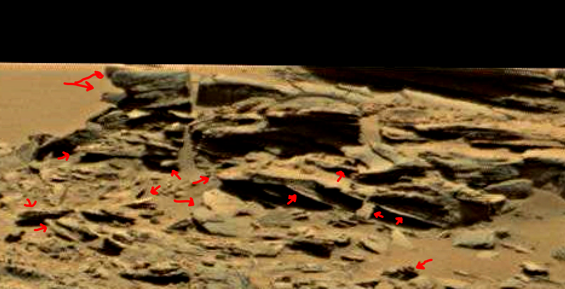 mars sol 1353 anomaly-artifacts 54a was life on mars