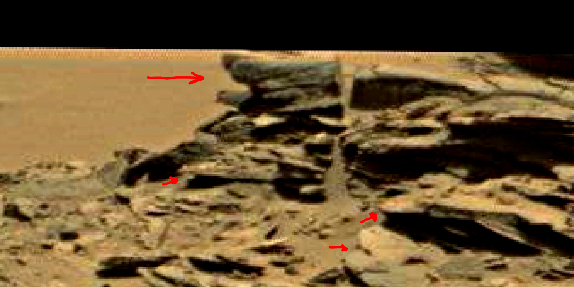 mars sol 1353 anomaly-artifacts 54a1 was life on mars