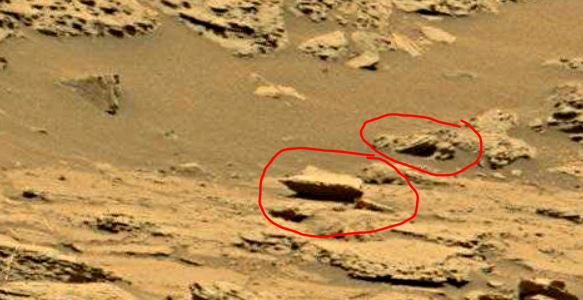 mars sol 1353 anomaly-artifacts 55 was life on mars