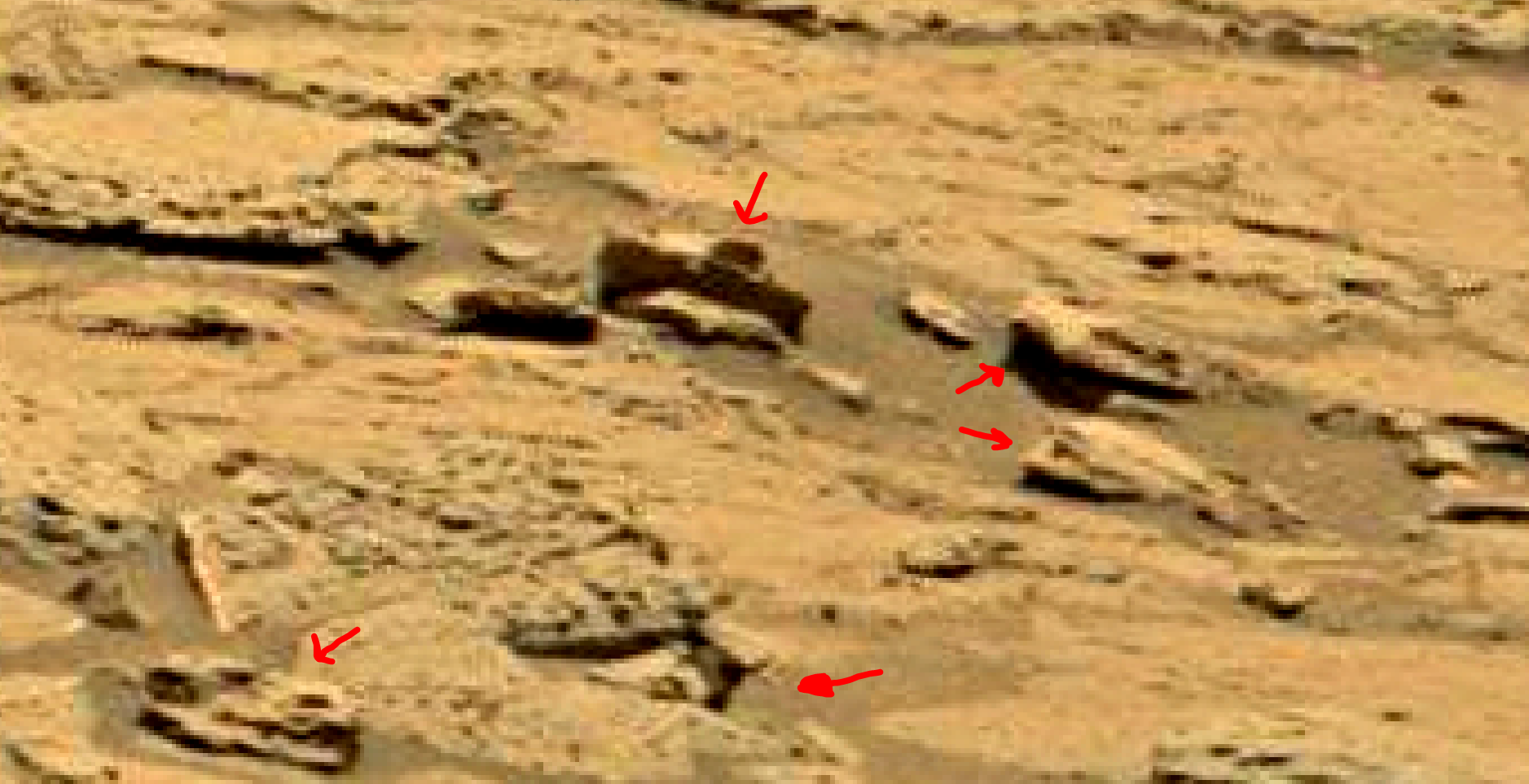 mars sol 1353 anomaly-artifacts 56 was life on mars
