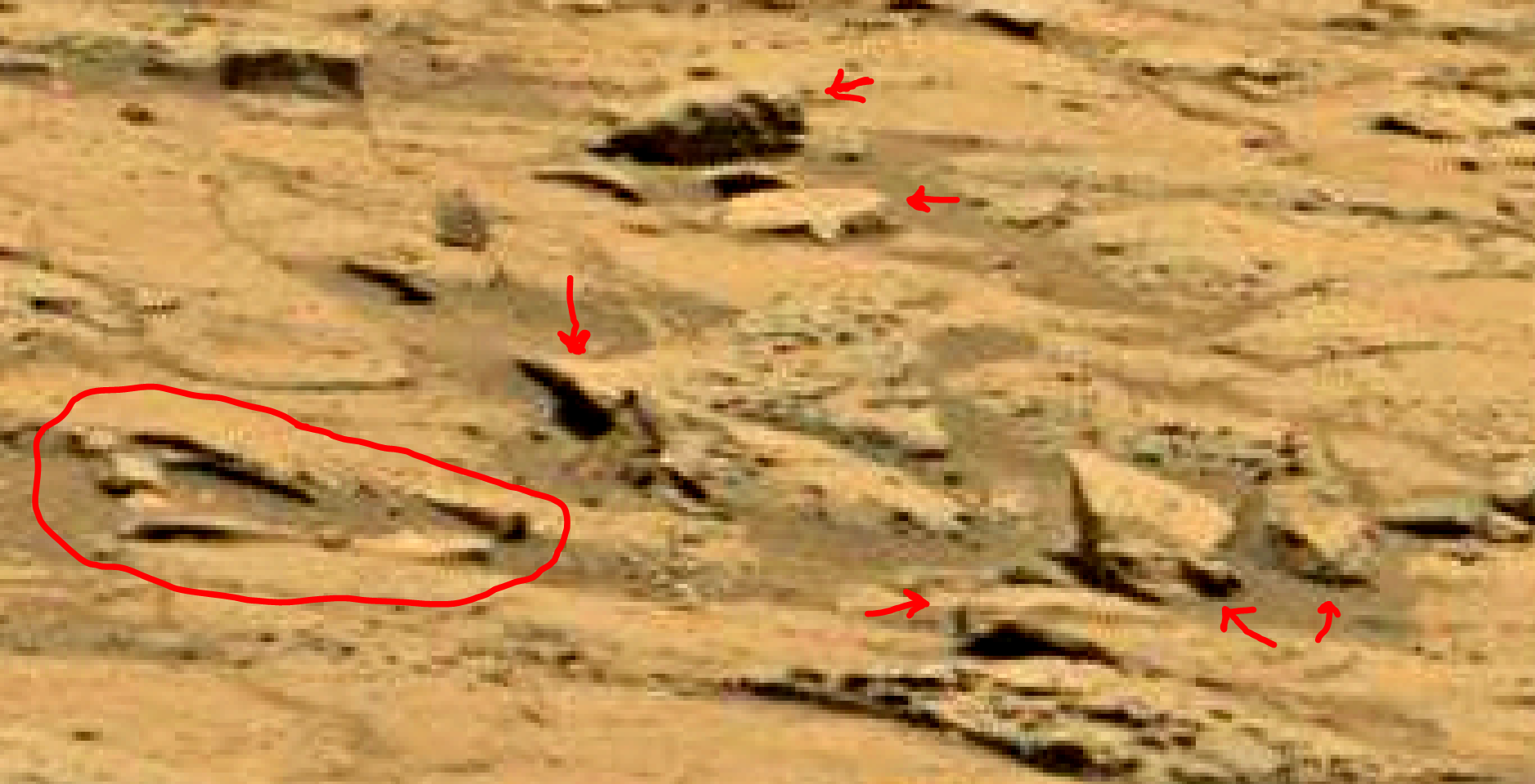 mars sol 1353 anomaly-artifacts 57 was life on mars