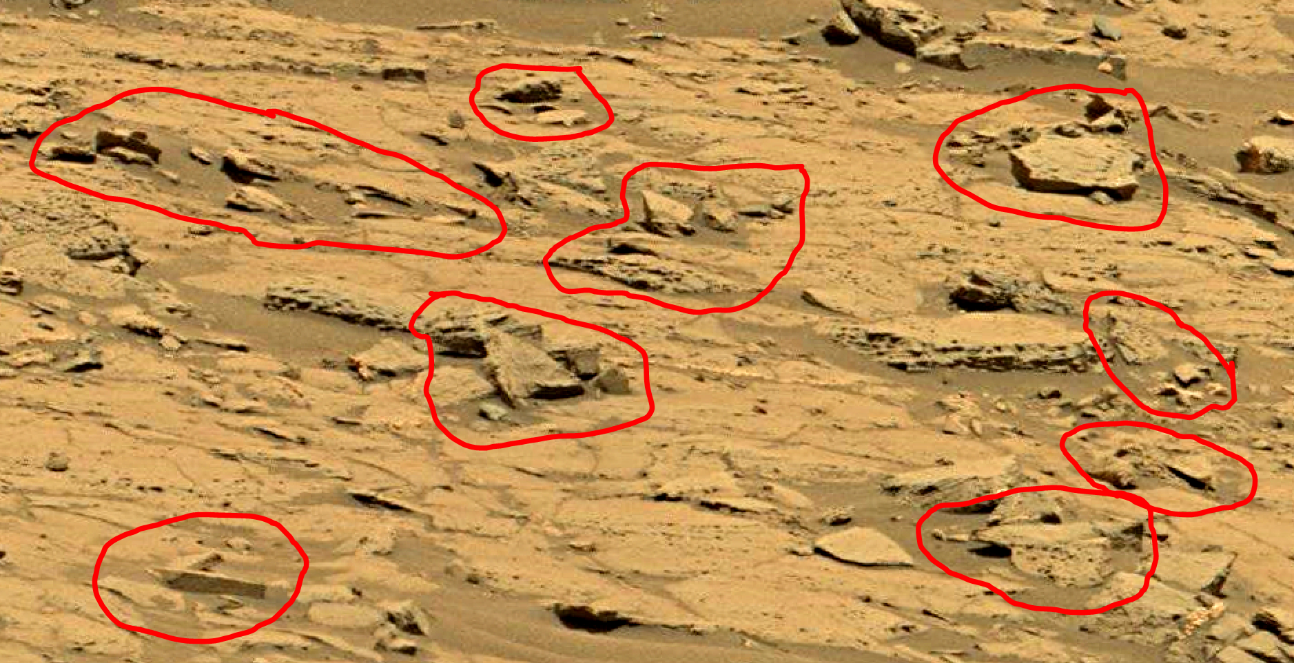mars sol 1353 anomaly-artifacts 58a was life on mars