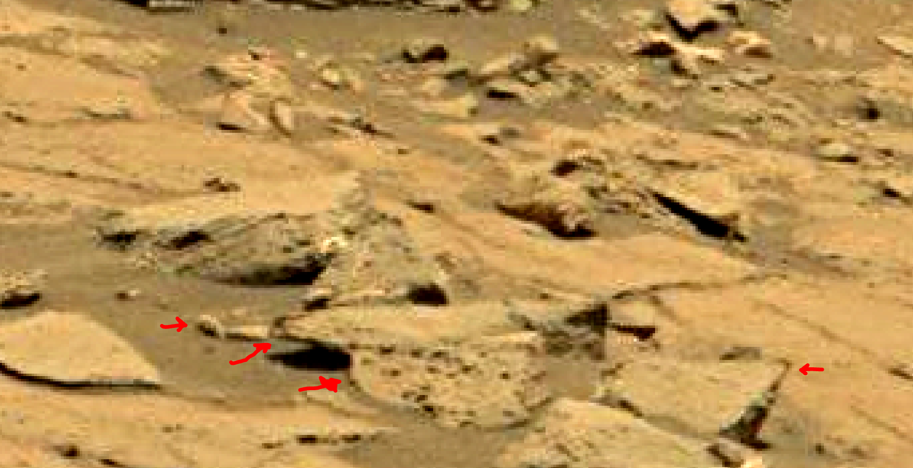 mars sol 1353 anomaly-artifacts 58a3 was life on mars