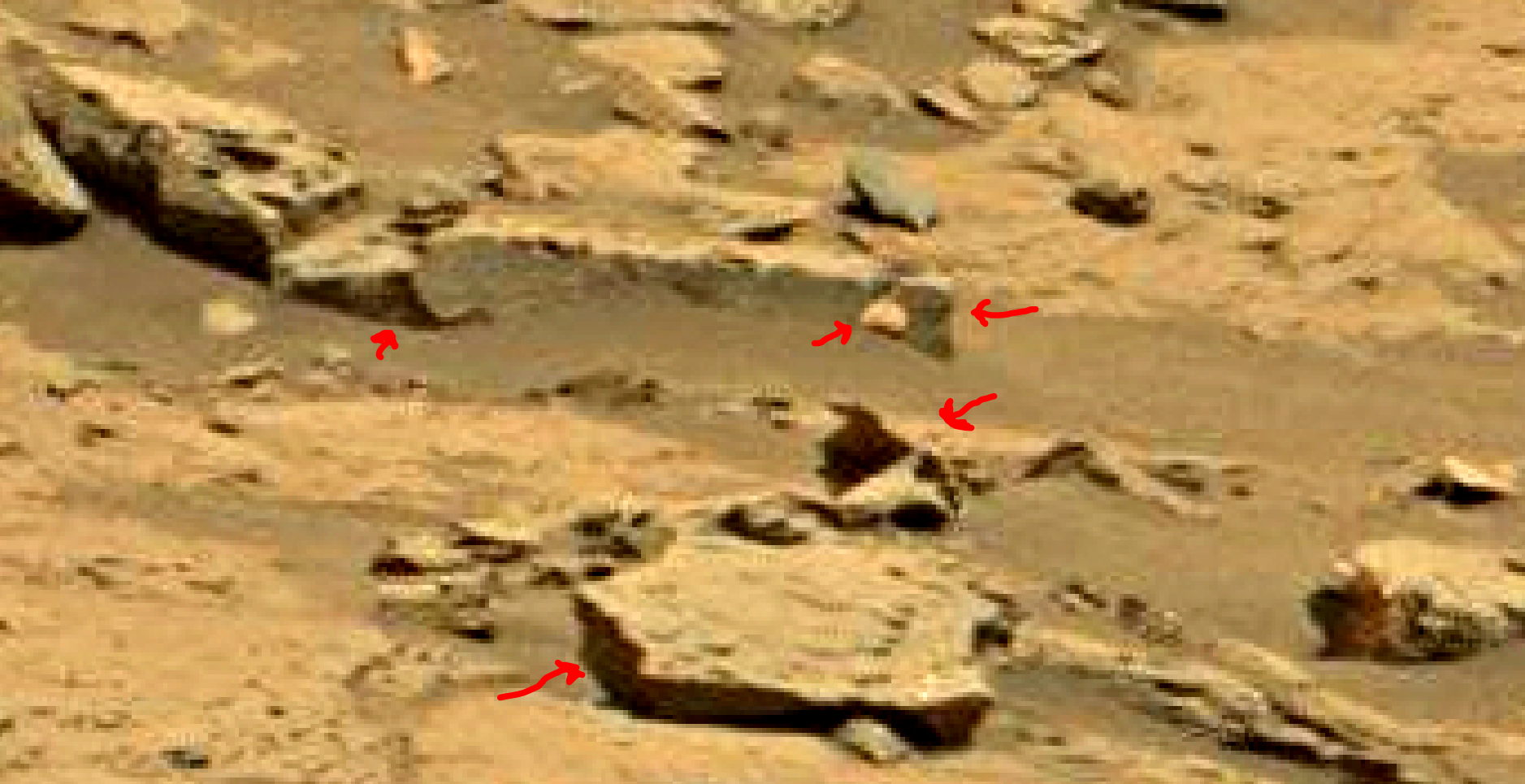 mars sol 1353 anomaly-artifacts 58a4 was life on mars