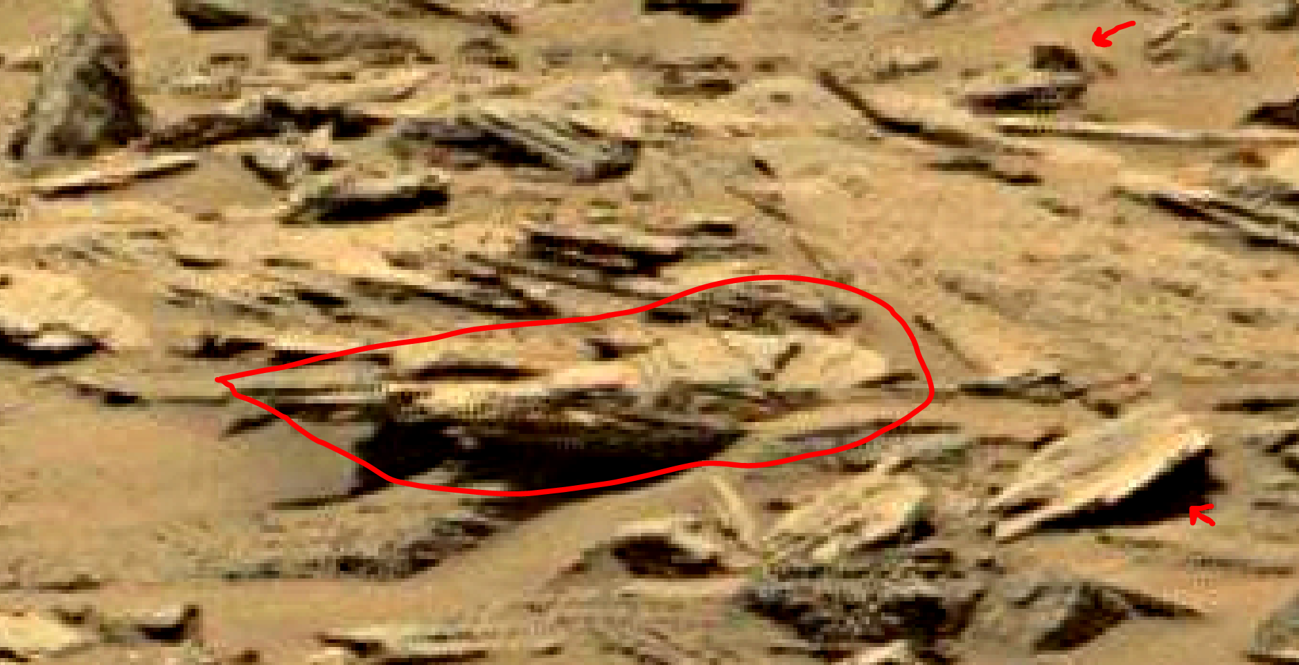 mars sol 1353 anomaly-artifacts 5a was life on mars