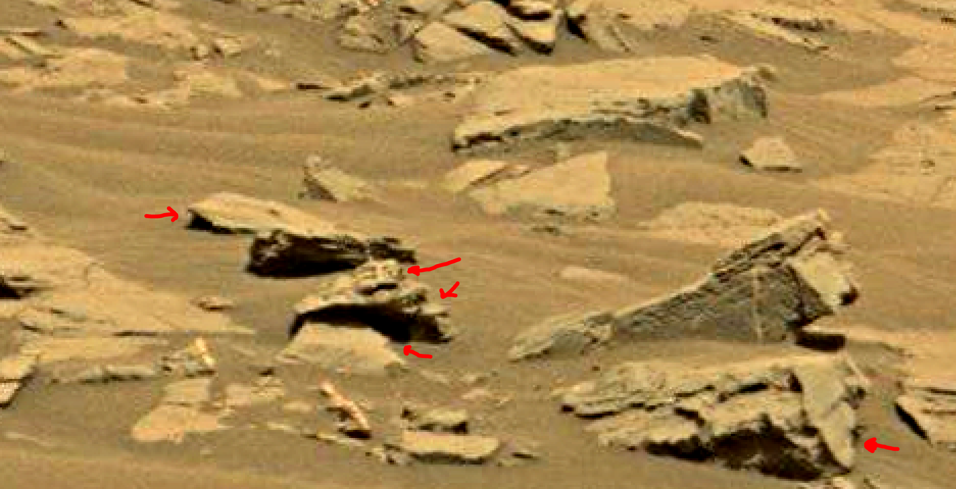 mars sol 1353 anomaly-artifacts 60 was life on mars
