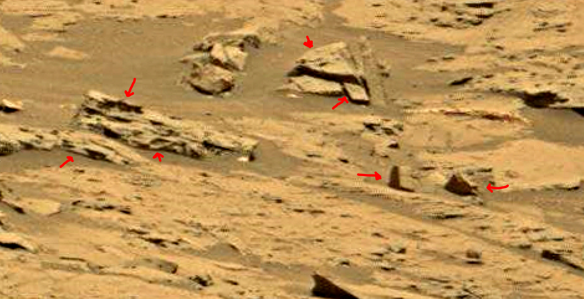 mars sol 1353 anomaly-artifacts 62 was life on mars