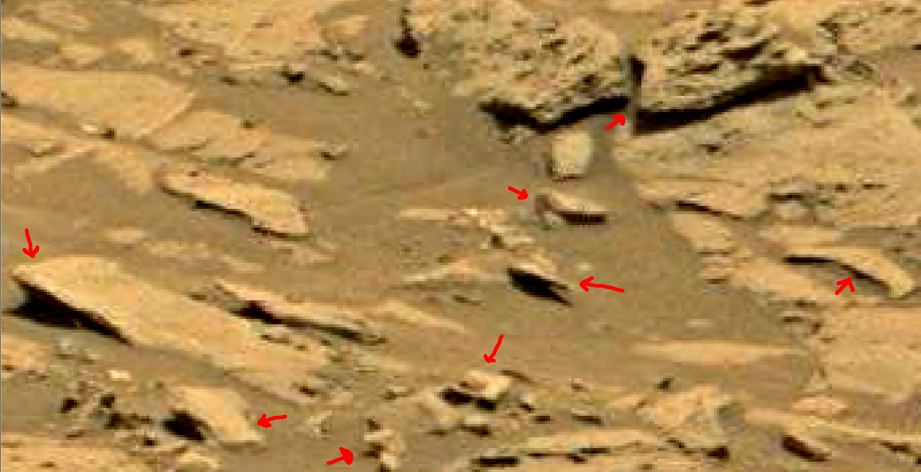 mars sol 1353 anomaly-artifacts 64 was life on mars