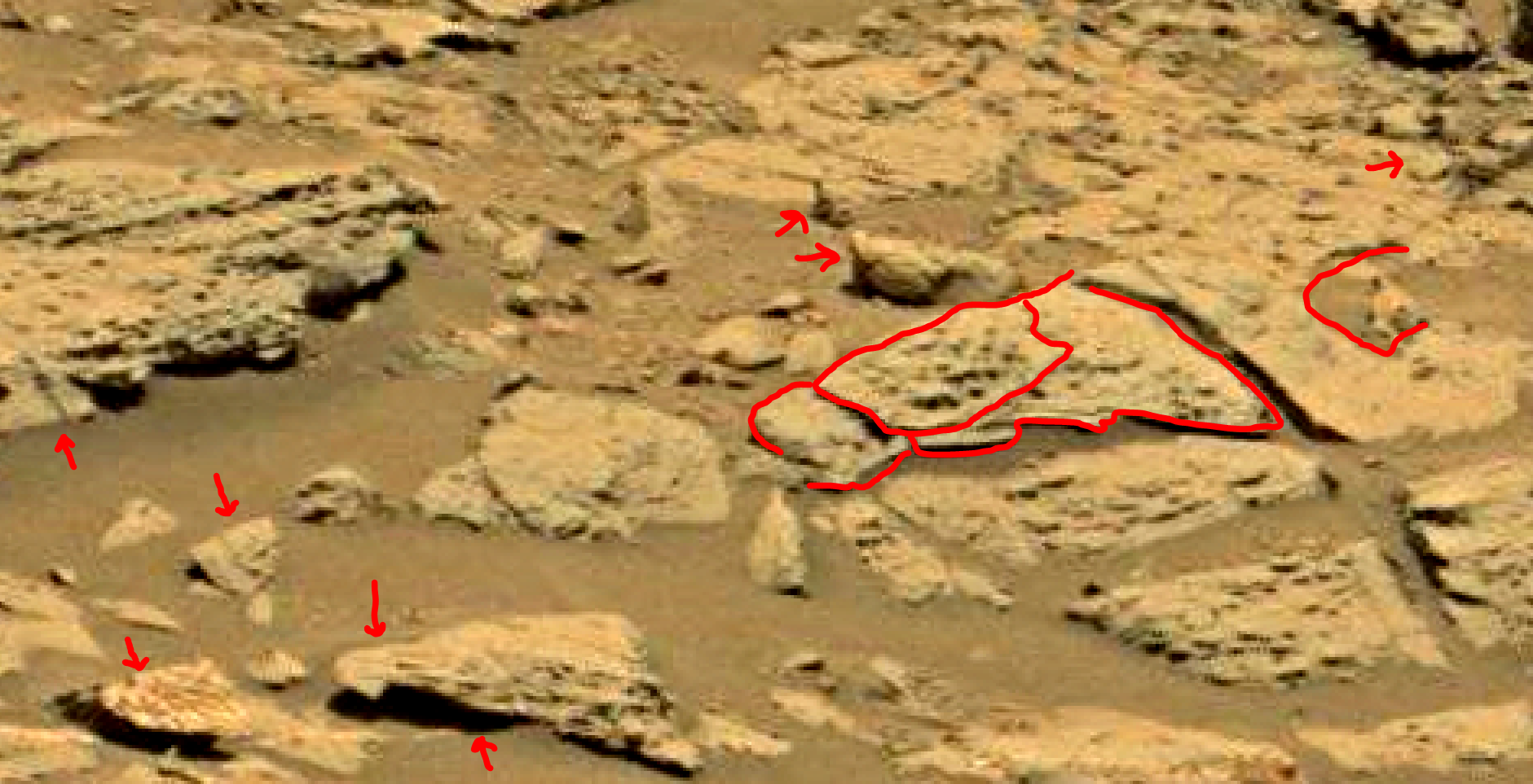 mars sol 1353 anomaly-artifacts 65 was life on mars