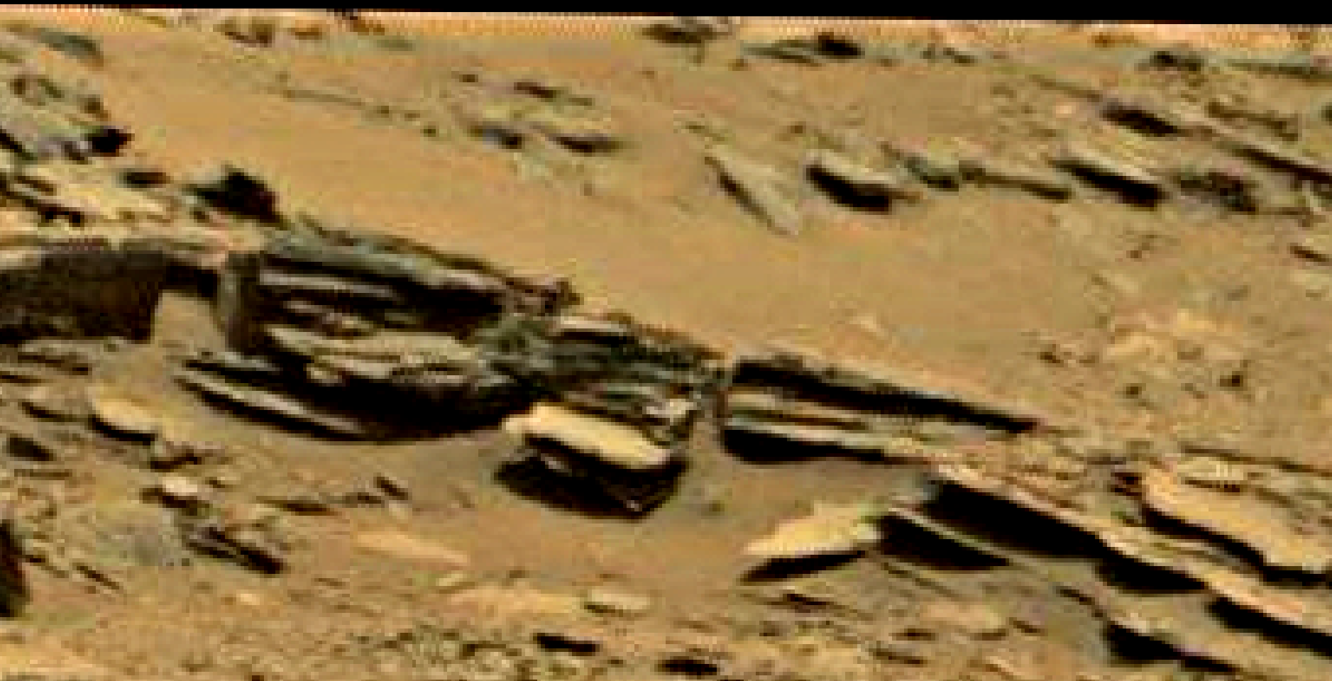 mars sol 1353 anomaly-artifacts 68a-2 was life on mars