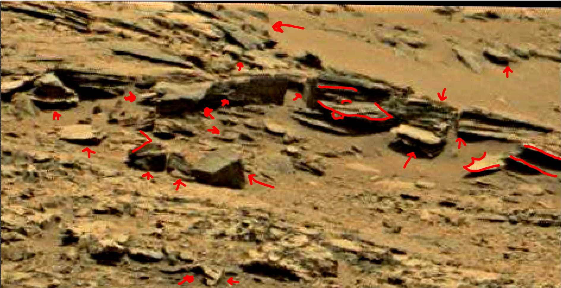 mars sol 1353 anomaly-artifacts 68a was life on mars