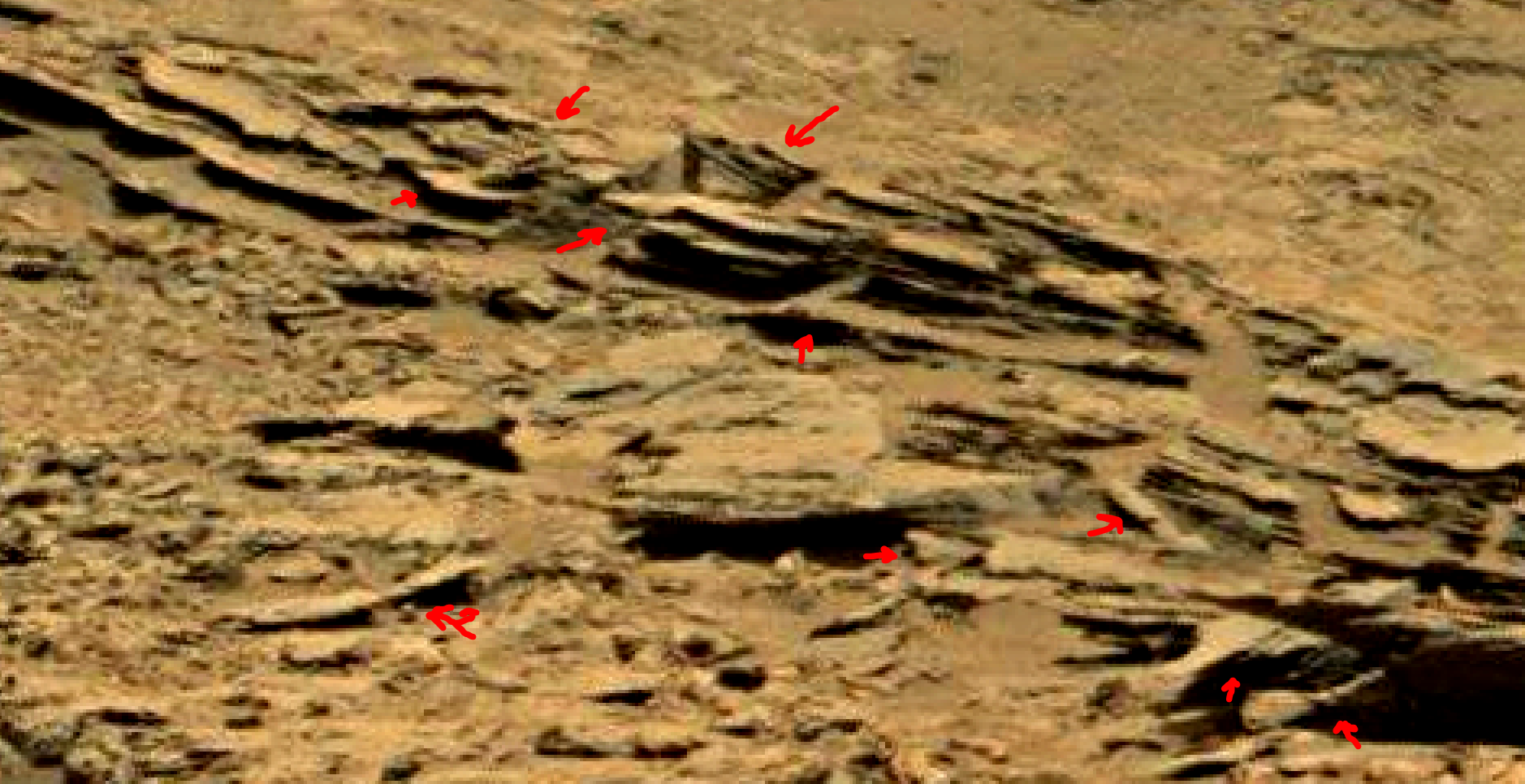 mars sol 1353 anomaly-artifacts 69a was life on mars