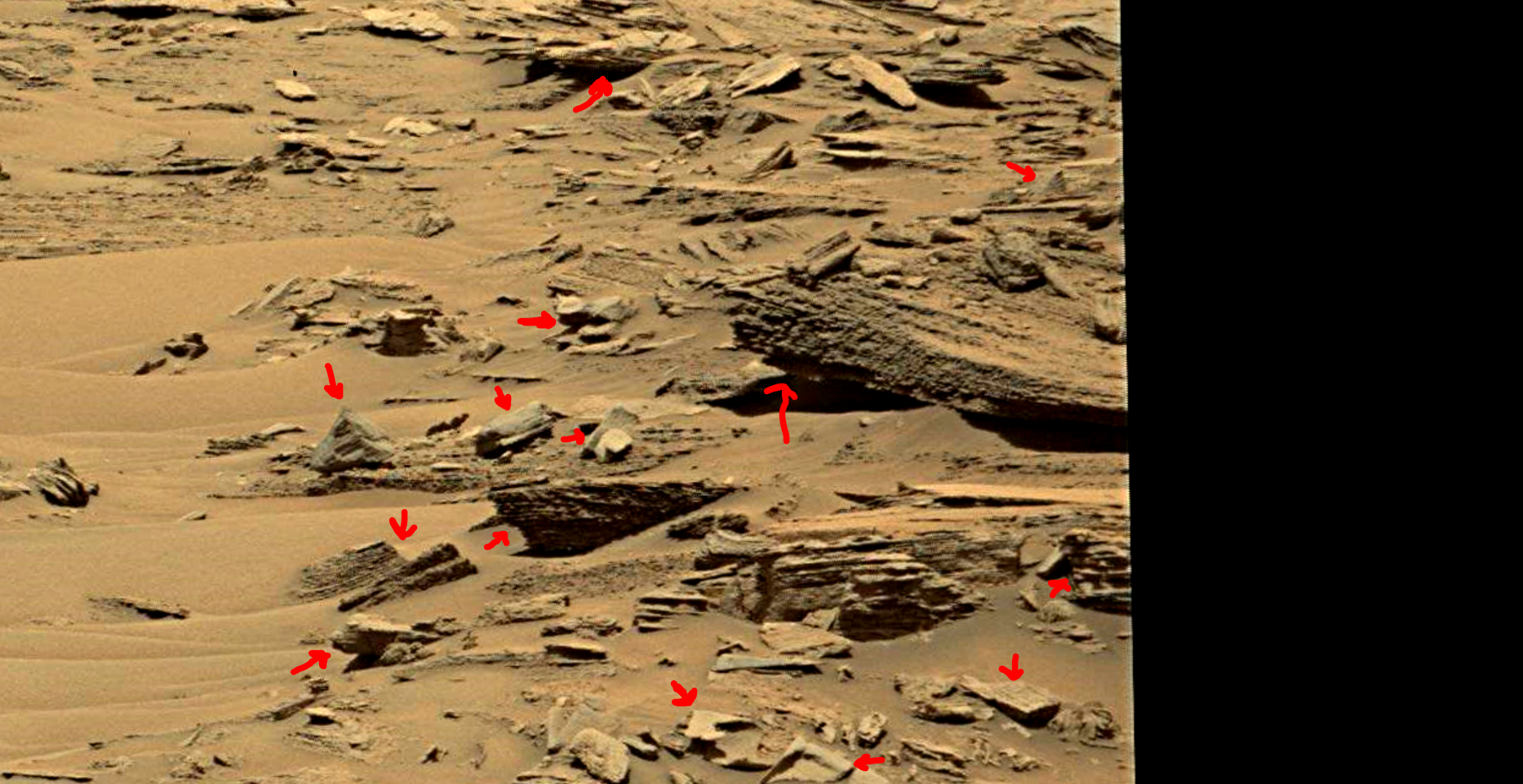 mars sol 1353 anomaly-artifacts 6a was life on mars
