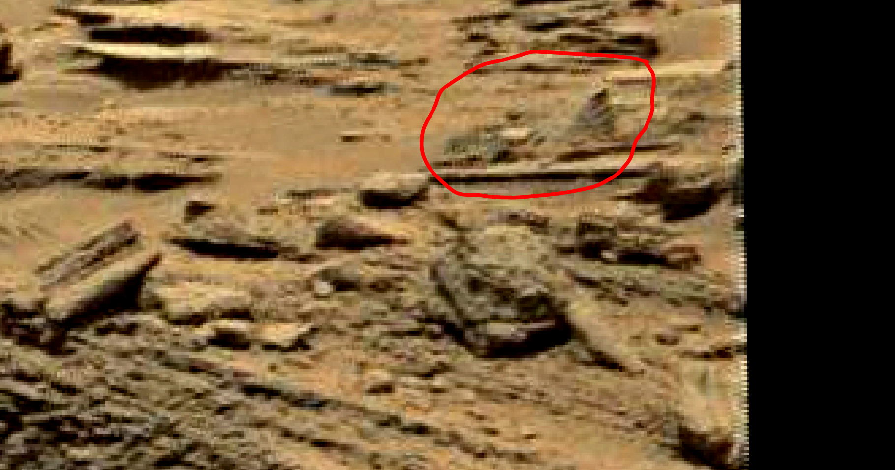 mars sol 1353 anomaly-artifacts 6b was life on mars