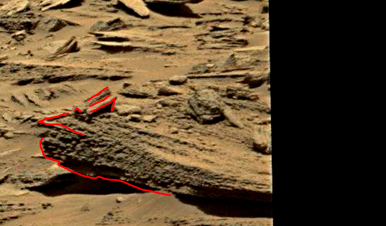 mars sol 1353 anomaly-artifacts 6c was life on mars