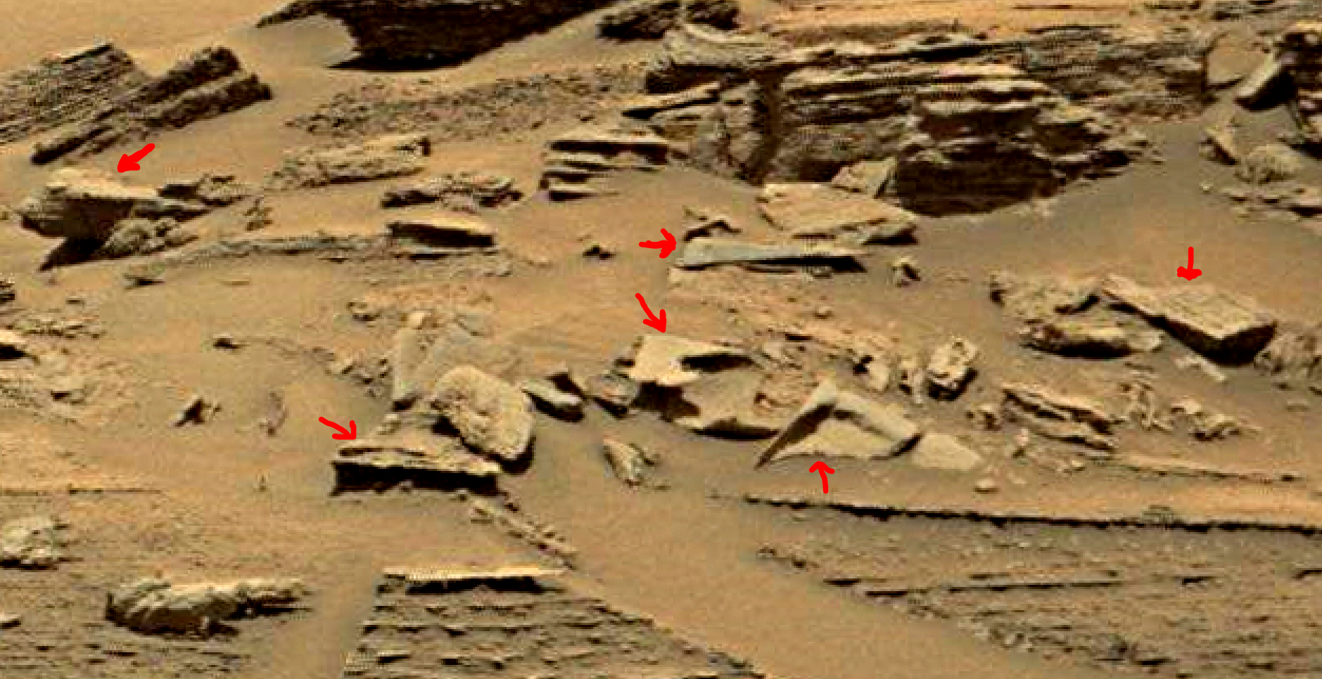 mars sol 1353 anomaly-artifacts 6e was life on mars