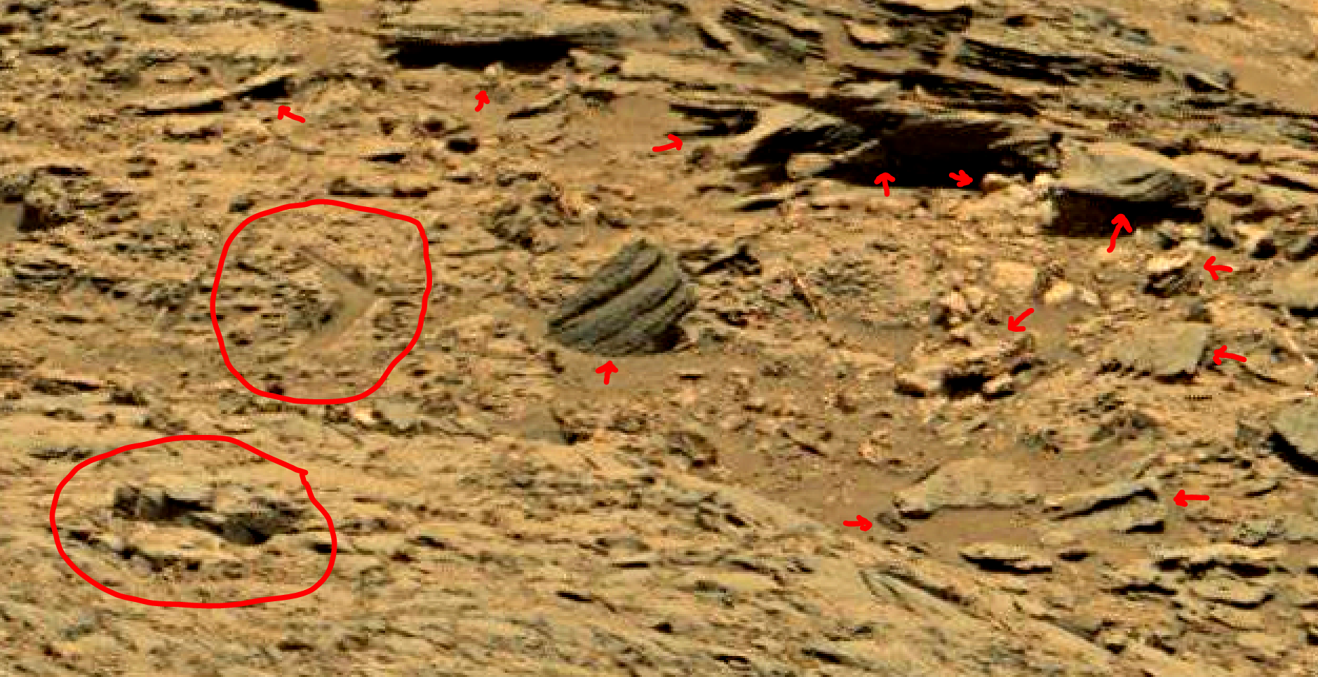 mars sol 1353 anomaly-artifacts 70 was life on mars
