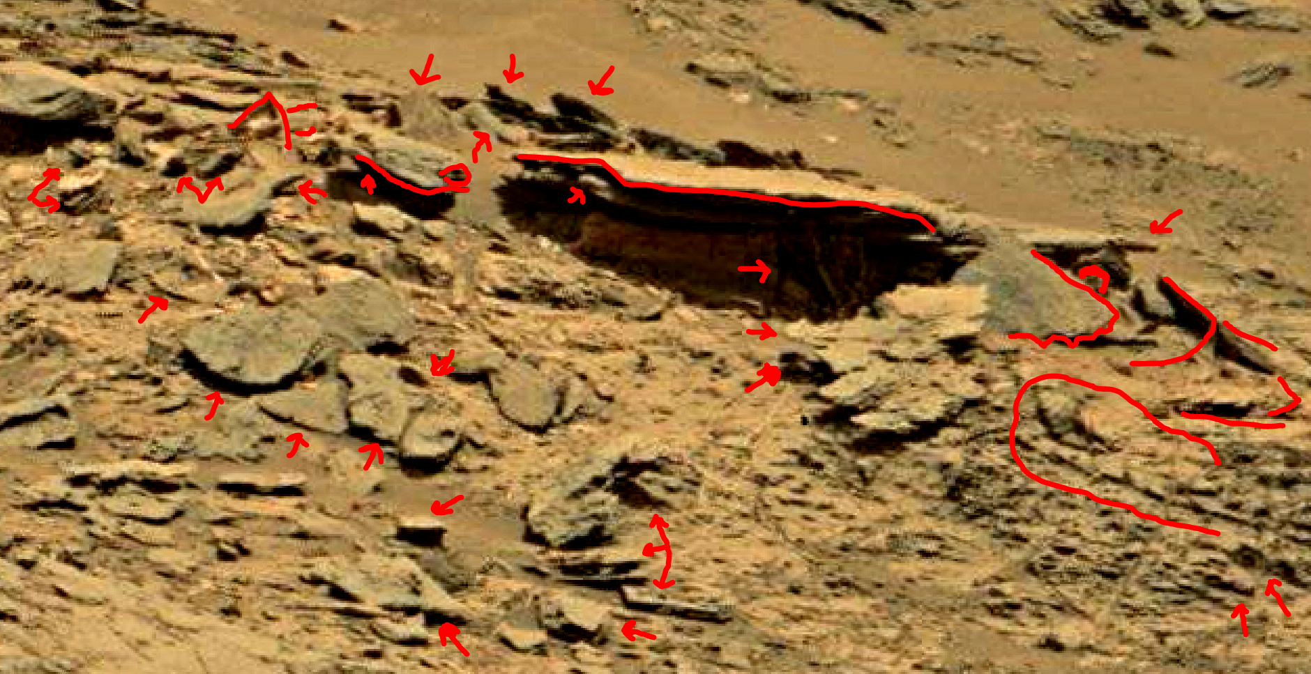 mars sol 1353 anomaly-artifacts 71a was life on mars