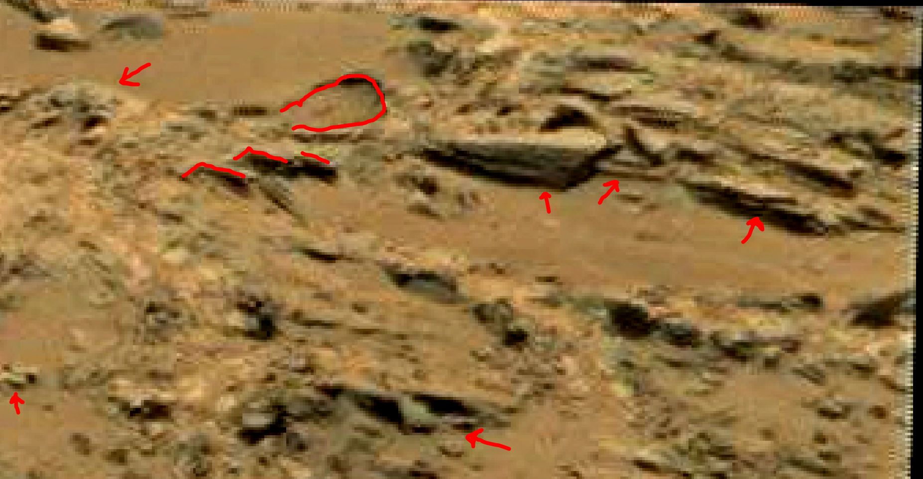mars sol 1353 anomaly-artifacts 73a was life on mars