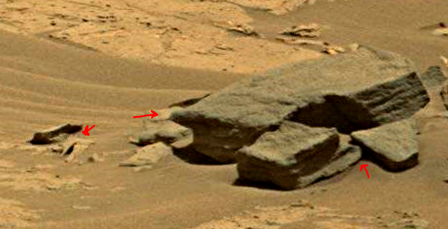 mars sol 1353 anomaly-artifacts 75 was life on mars