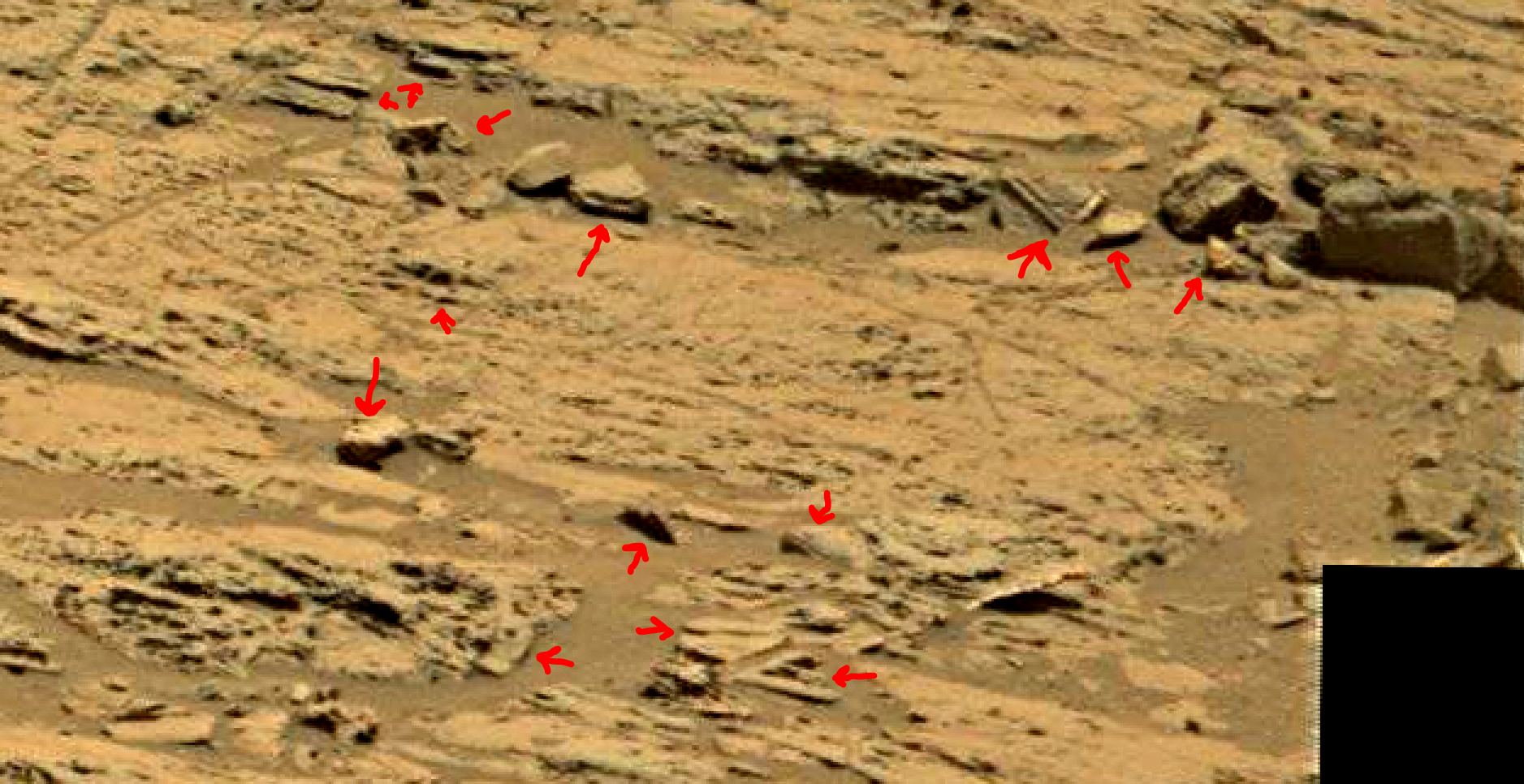 mars sol 1353 anomaly-artifacts 76 was life on mars