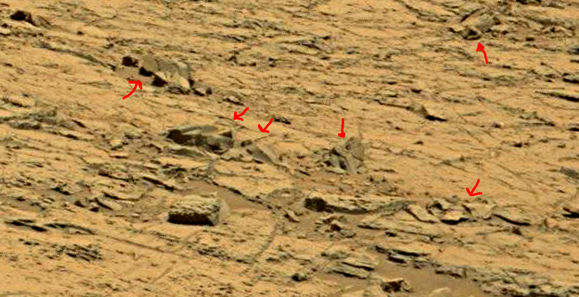 mars sol 1353 anomaly-artifacts 77 was life on mars