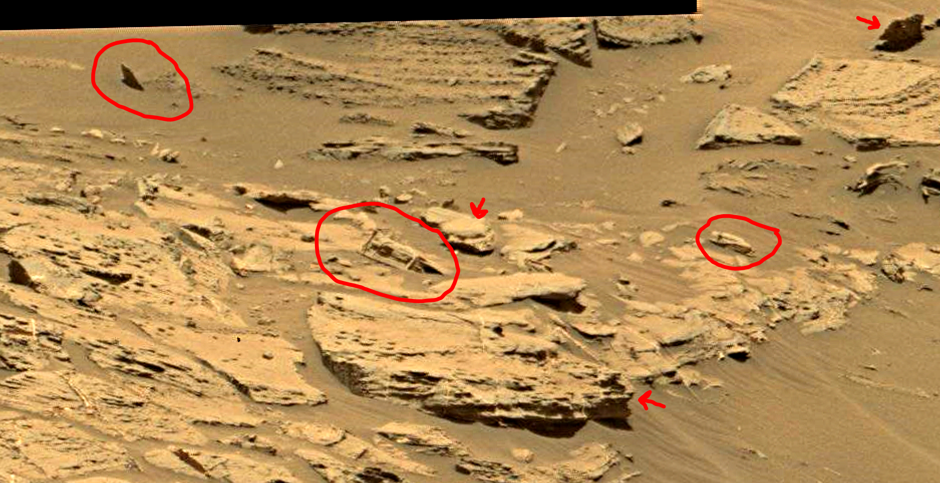 mars sol 1353 anomaly-artifacts 9a was life on mars