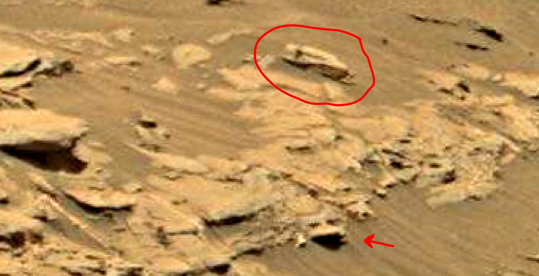 mars sol 1353 anomaly-artifacts 9d was life on mars