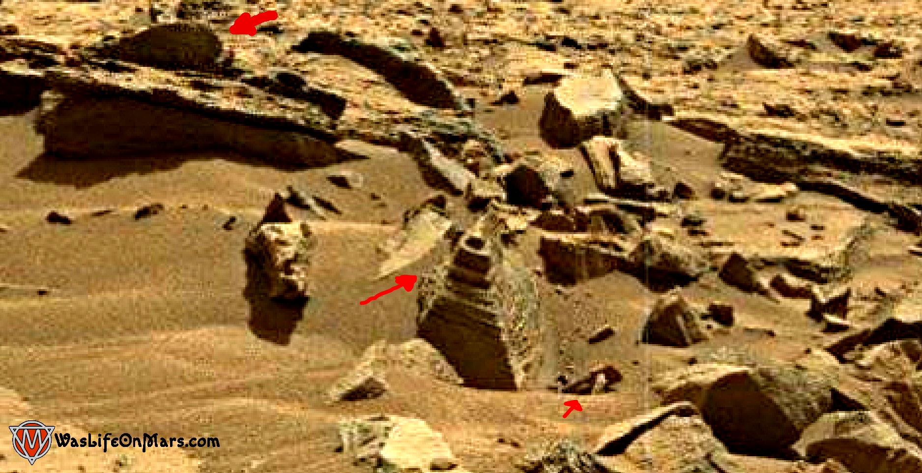 mars sol 1373 anomaly-artifacts 1b was life on mars